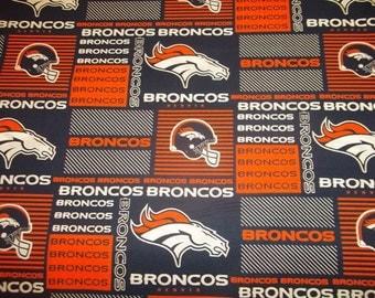 """DENVER BRONCOS Super Bowl Champs  100%  Nfl Cotton fabric  One 1  Fat Quarter   piece  18"""" x 29"""" BRAND  New Design"""