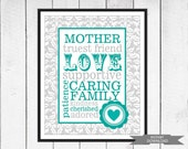 Mother's Day Print - Gift for Mom - Mother Typography - Instant Download - 8x10