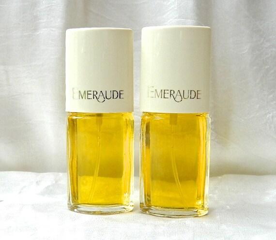 2 Vintage Emeraude By Coty Perfume Eau De Cologne Sprays
