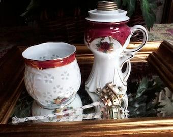 Small Porcelain Oil Lamp