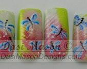 Dragonfly Love Instant Acrylic Nail Set