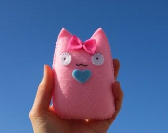 So pink cute kawaii cat doll