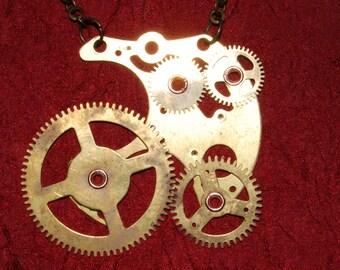 Gear Up - Steampunk Necklace