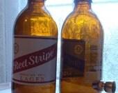 Red Stripe 10.5 oz. Glass Beer Bottle Novelty Pipe