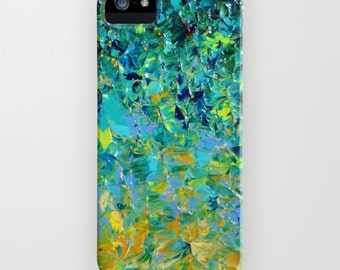 Beauty Beneath the Surface Green Ombre iPhone 5 5C SE 6S 7 Plus Case Samsung Galaxy Case Abstract Art Ocean Waves Teal Royal Blue Turquoise