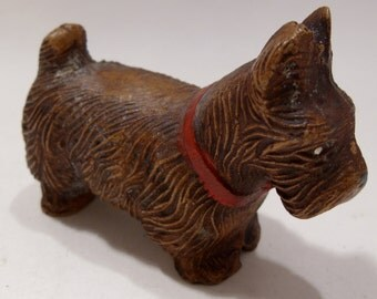 Brown Scotty Dog Figurine