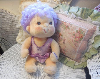 85 Hugga Bunch Impkins doll hallmark purple hair  Kenner Doll/SALE Use Code CLEARINGOUT25 Must Be used at check out can not change after S