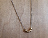 Minimalist Faceted Brass or Silver Necklace