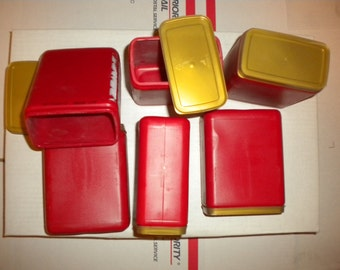 6 Each 16 oz. Rectangular Plastic Containers with Lids