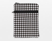 iPad Air 2 Cover, Galaxy tab S 8.4 Cover Case, iPad Mini 2 Case, Kindle Paperwhite Sleeve, Kobo Glo Bag - black and white houndstooth