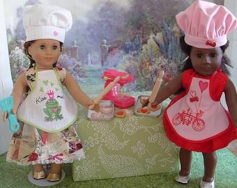 Valentines Baking Set for American Girl
