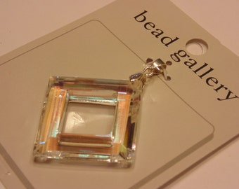 LARGE AB crystal  pendent, 30 mm (G10)