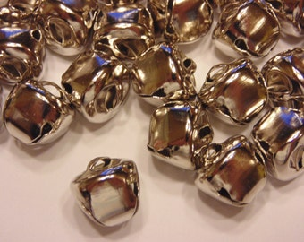 20 silver color jingle bells, 13 mm (A14)