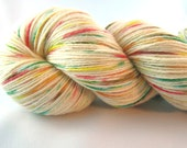Fall's Confetti:  hand dyed sock yarn, hand painted yarn, fall, fall colors, speckled, fingering weight, merino silk