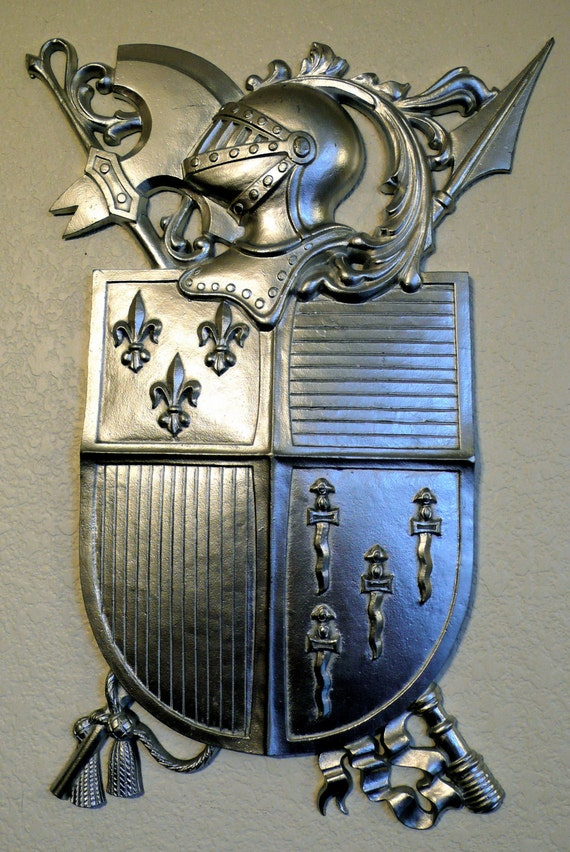 Vintage Medieval Knights Coat Of Arms Wall Decor Old By