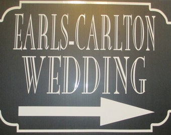 Set of 3, Custom Corragated Plastic Wedding Signs With Vinyl Lettering