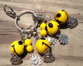 Yellow smiley face Crochet/Knit Stitch Markers