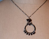 Garnet Wire Wrapped Necklace x88