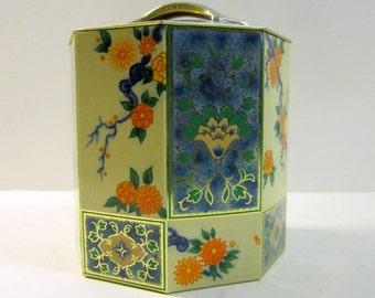 Vintage Octagon Tin Box