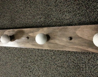 Golf Ball Coat Rack 5 hooks