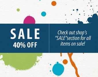 SALE 40% OFF / Art Jewelry, sale, art gifts, jewelry sale / various fun items on sale now