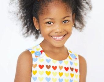 Girl dress - Heart Aline dress - Baby girl - Toddler girl dress - size 0-3m, 3-6m, 6-12m, 12-18m, 18-24m, 2T, 3T, 4T, 5T