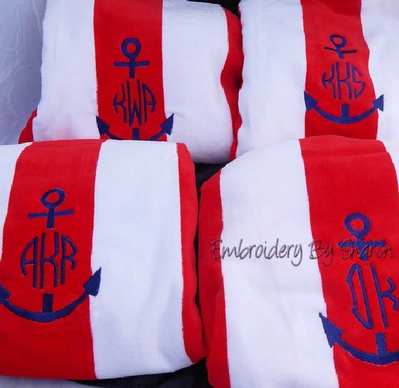 Items Similar To Monogrammed Beach Towels