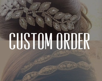 Custom Ribbon Change On Head Pieces - ADD ON ONLY