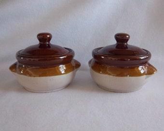 Ceramic Bean Pots Cheesy Salsa Dip Soup Bowl/Crock Servers