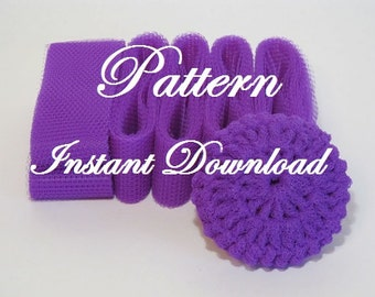 Scrubbie Pattern For Crocheted Nylon Netting Dish Scrubbies