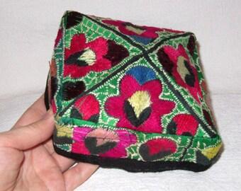 Vintage Uzbek Hand Embroidered Skull-Cap