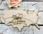 State Love Ring Bearer Pillow Unique Wooden Alternative Ring Pillow Custom Rustic Country Pride Ring Pillow