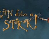 Halloween Theme Facebook Cover Art - Why yes, I CAN drive a STICK