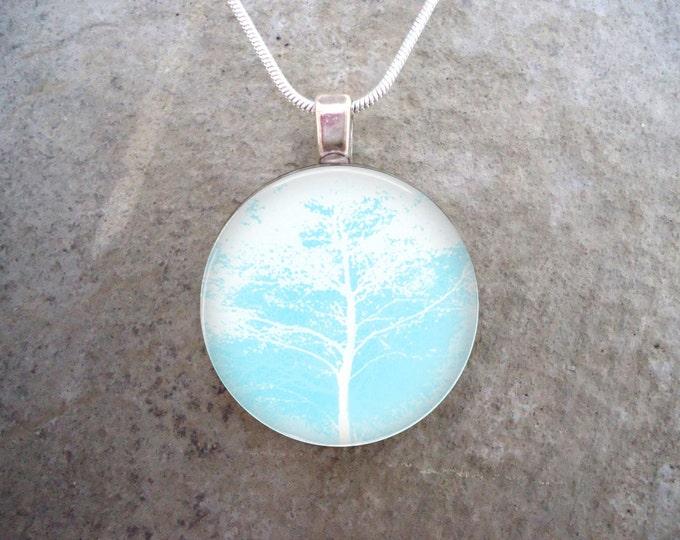 Tree Jewelry - Glass Pendant Necklace - Frozen Beauty 6 - RETIRING 2017