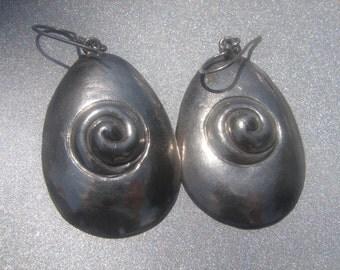 Sterling Swirl Silver Drop Earrings 513.