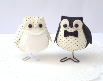 His and Hers Fabric Owl Set