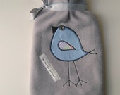 Hot Water Bottle  Cover Tweet Appliquéd Bird  FB22