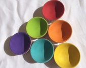 Stacking bowls - A montessori inspired wooden toddler game