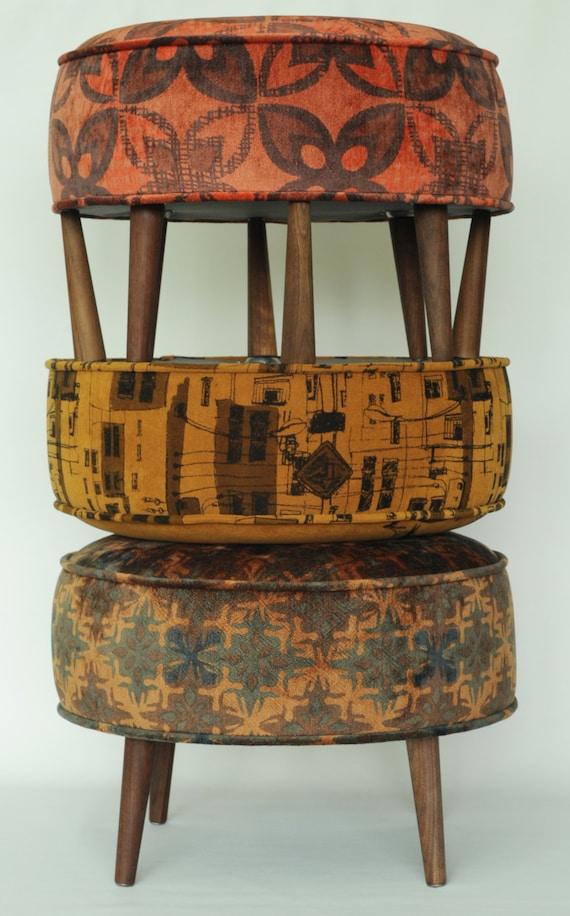 Escabel del otomano taburete Banco muebles silk screening