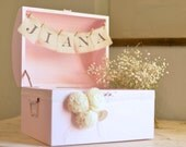 Personalized Wooden Gift Holder by Burlap and Linen Co