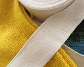 """100 % natural color cotton fabric ribbon : 1.5"""" width  1 roll / 10 yards"""