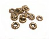50pc 8mm antique copper finish metal spacer/bead-8199