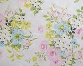Vintage Sheet Fabric Fat Quarter - Pastel Floral Bouquets