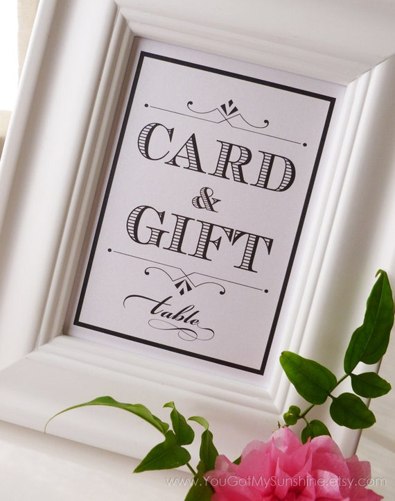 Wedding Gift Card Table : Custom Card & Gift Table Wedding SignCan be Personalized Couples ...