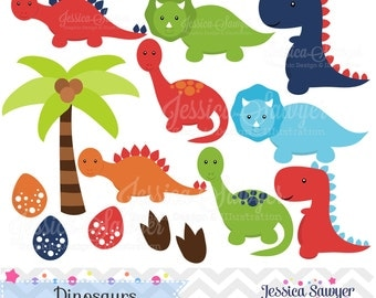 INSTANT DOWNLOAD, Dinosaur Clipart, Dino party, for commercial use or personal use