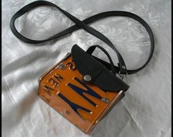 Vintage Little Earth New York License Plate Purse Shoulder Bag