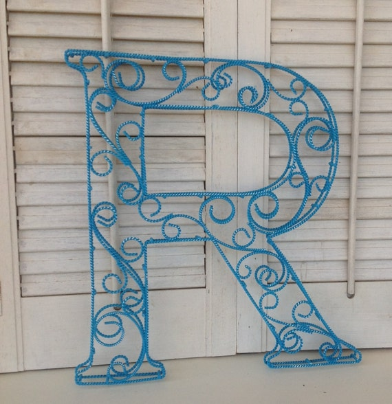 lettering for walls scrolled wire letter r metal wall or shelf decor 23310 | il 570xN.641353908 rrkt