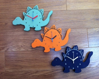 Spiky Dinosaur Clock - Can be personalised & painted in any colour