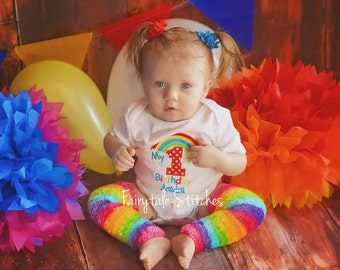 My First Birthday, Rainbow Shirt, Rainbow Birthday, Girl Birthday Shirt, First Birthday Shirt, Birthday Shirt, First Birthday
