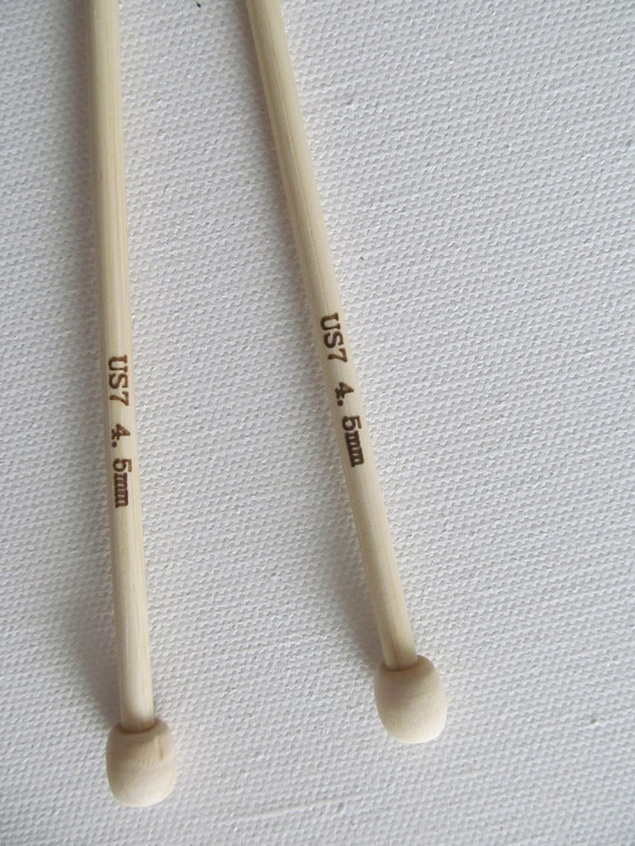 Knitting Needles Mm : Size knitting needles mm bamboo wooden inch straight